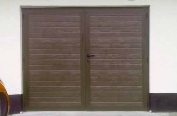 Dvokrilna garažna vrata - čoko rjava
