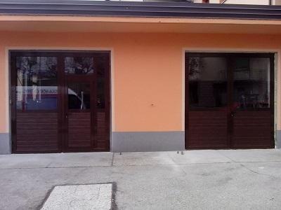 Dvokrilna garažna vrata - rjava