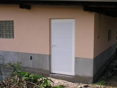 Enokrilna vrata - bela