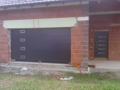 Vgradnja sekcijskih garažnih vrat